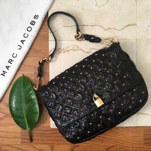 Marc Jacobs Black Python Stardust Studded Beat Bag